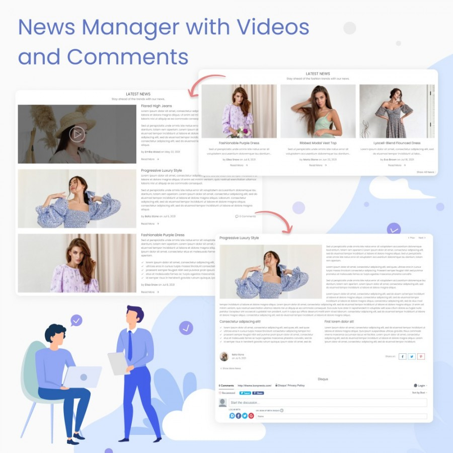 Blog & News Manager with Videos and Comments Prestashop Module