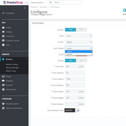 Advanced Zoom Product Images Prestashop Module