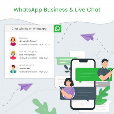 WhatsApp Business & Live Chat Prestashop Module