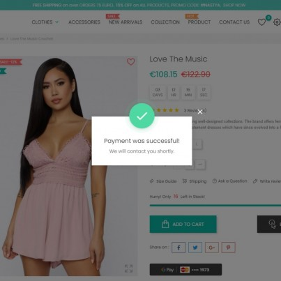 Google Pay - 1 Click Checkout Prestashop Module