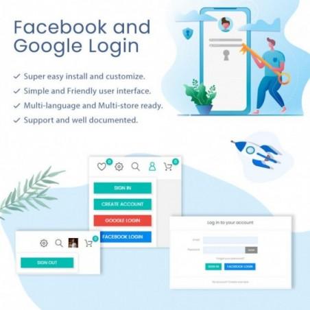 Facebook & Google Login and Register Prestashop Module