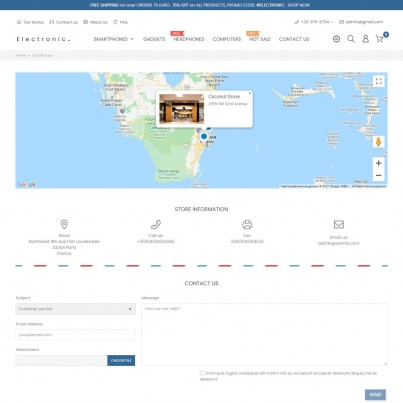 Google Maps Store Locator Prestashop Module
