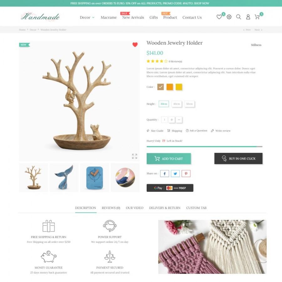 Clean Heandy - Art  & Handmade, Crafts Prestashop Theme