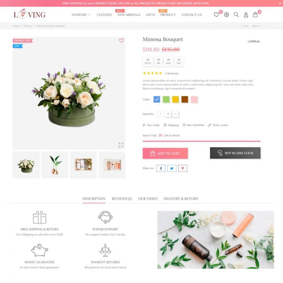 Tender Love - Flowers & Gifts, Beauty & Cosmetics, Art Prestashop Theme