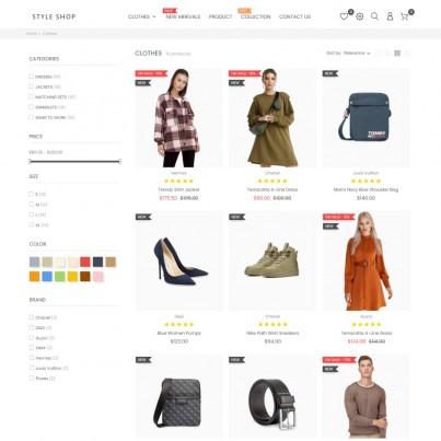Style Shop - Clothes & Shoes Free Prestashop Theme