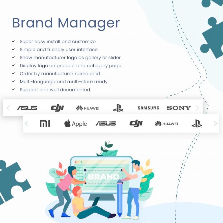 Brand Manager - Partners Logo Carousel & Gallery Prestashop Module