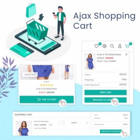 Ajax Shopping Cart - Popup & Drop Down Prestashop Module