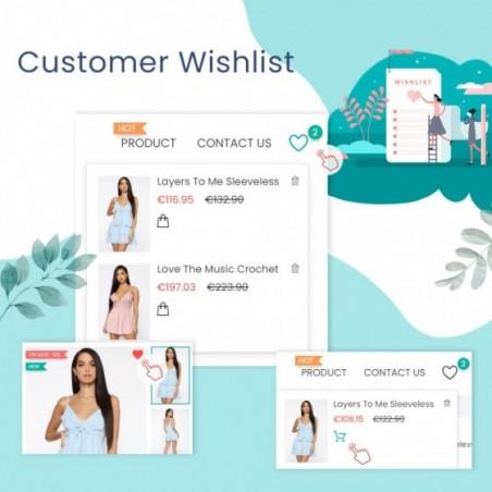 Wishlists & Favorites Customer Products List Prestashop Module