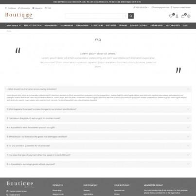 Boutique - Clothing and Accessories Prestashop Theme