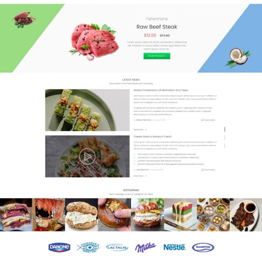Mega Market Store - Food & Restaurant Prestashop Theme