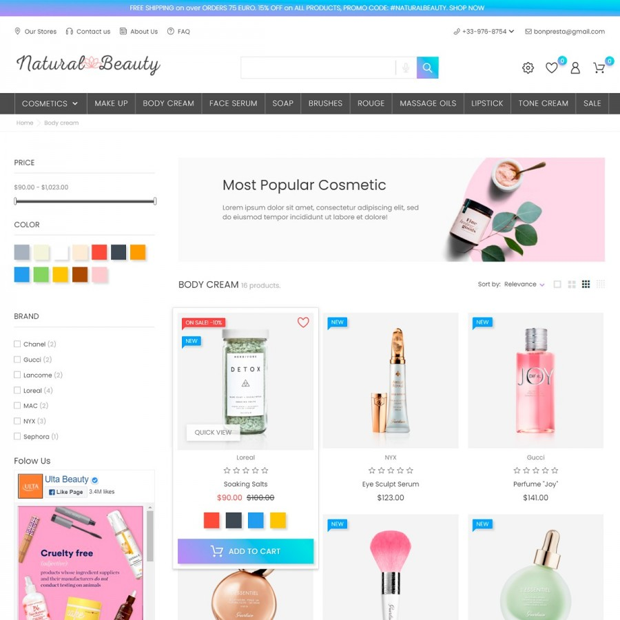 Beauty House - Makeup, Beauty Cosmetics Prestashop Theme
