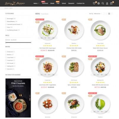 Spicy Pepper - Restaurant & Food, Supermarket, Wine, Coffe Prestashop Theme