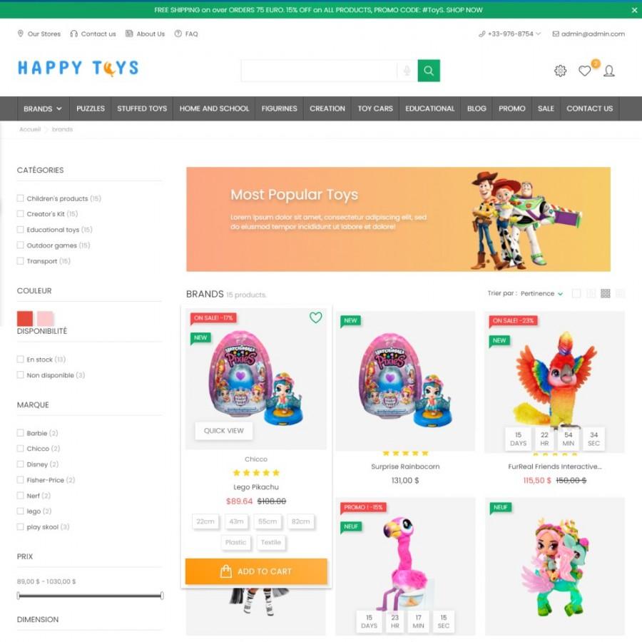 Toys & Kids - Clothes & Shoes, Baby, Joy Prestashop Theme