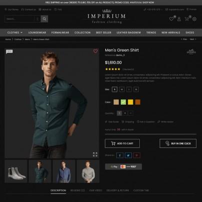 Imperium Fashion - Clothes & Shoes  Prestashop Theme