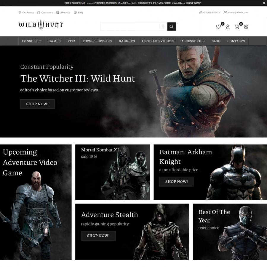 Wild Hunt  - Game & Electronics, Phones, Watches Prestashop Theme