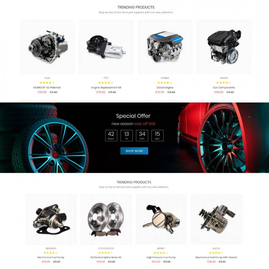 Top Gear - Car & Bike, Sport & Travel, Tools Prestashop Theme
