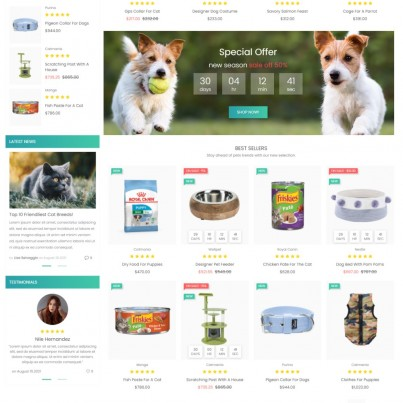 Funny Pets - Products for Animals Prestashop Theme