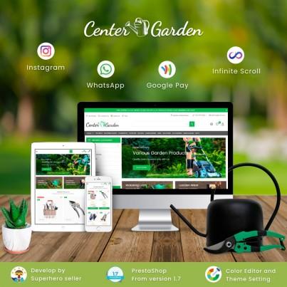 Center Garden - Furniture & Interior, Decor, Kitchen Prestashop Theme