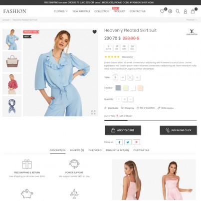 Isabelle Fashion - Clothes & Shoes, Jewelry & Watch Prestashop Theme