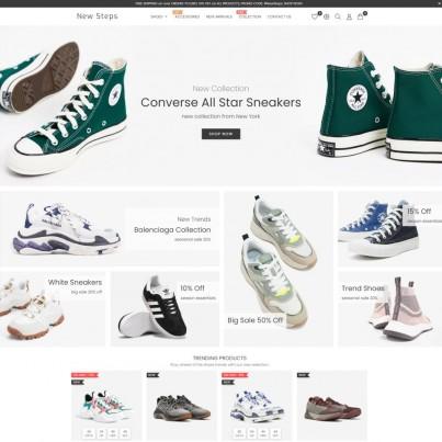 New Step - Shoes & Clothes, Fashion Watches Prestashop Theme