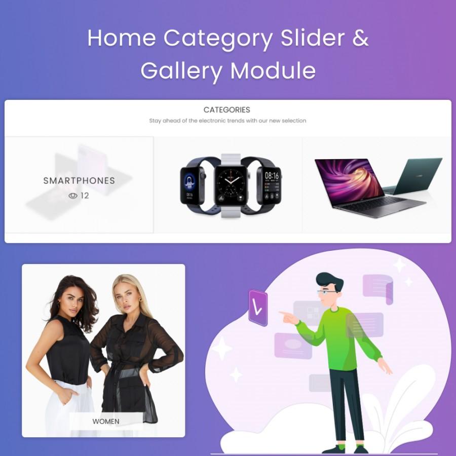 Home Category Slider & Gallery Prestashop Module