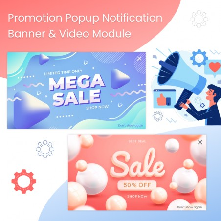 Promotion Popup Notification Banner & Video Prestashop Module