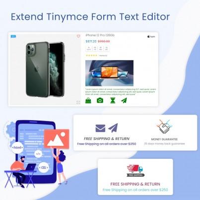 Extend Tinymce Form Text...