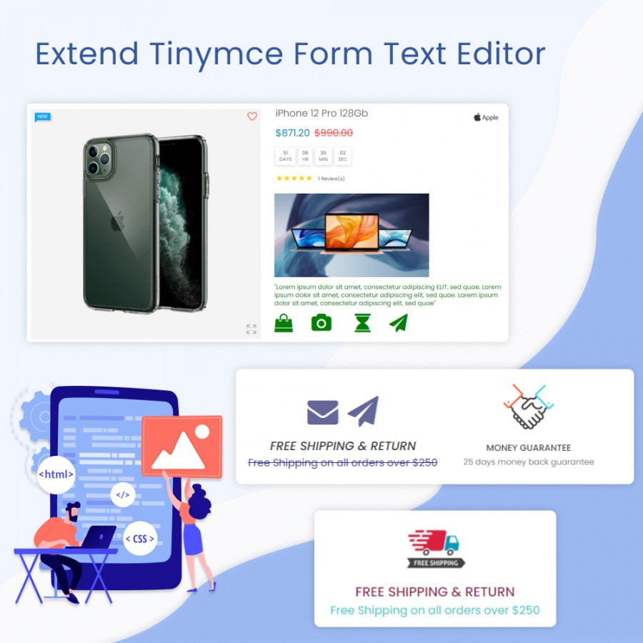 Extend Tinymce Form Text Editor Prestashop Module