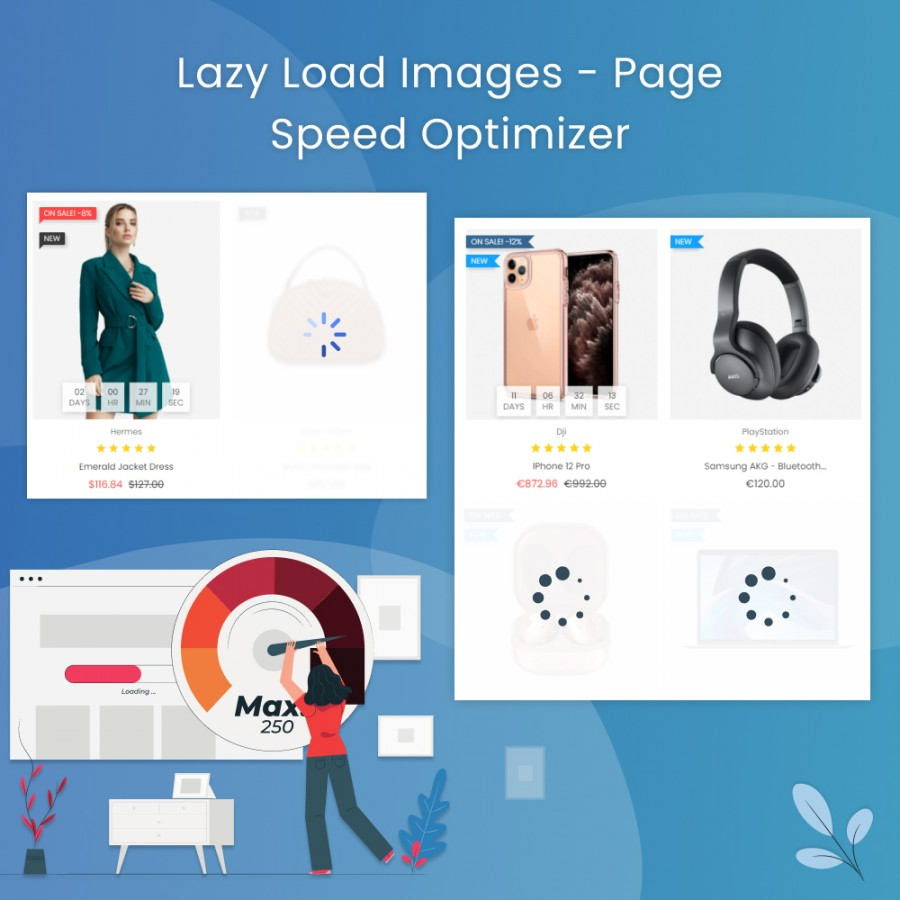 Lazy Load Images - Page Speed Optimization Prestashop Module