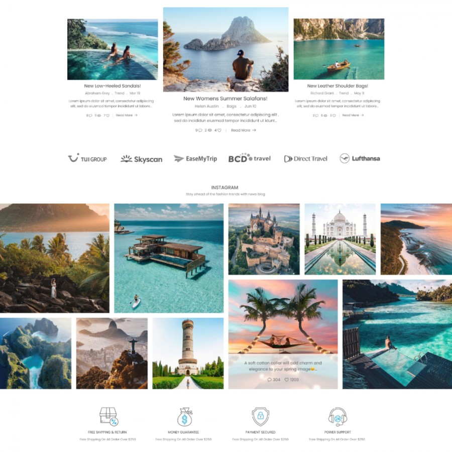 Happy Travel - Journey & Activities, Deep, Relax Prestashop Theme