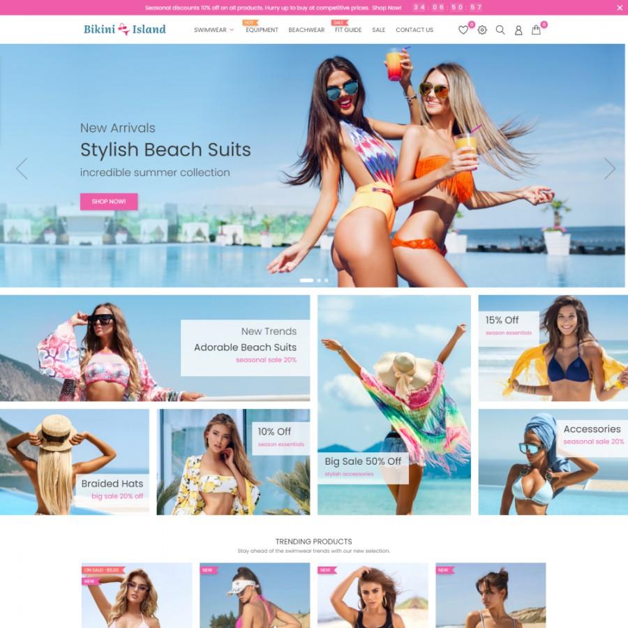 Bikini Island - Fashion SexShop Clothes Prestashop Theme