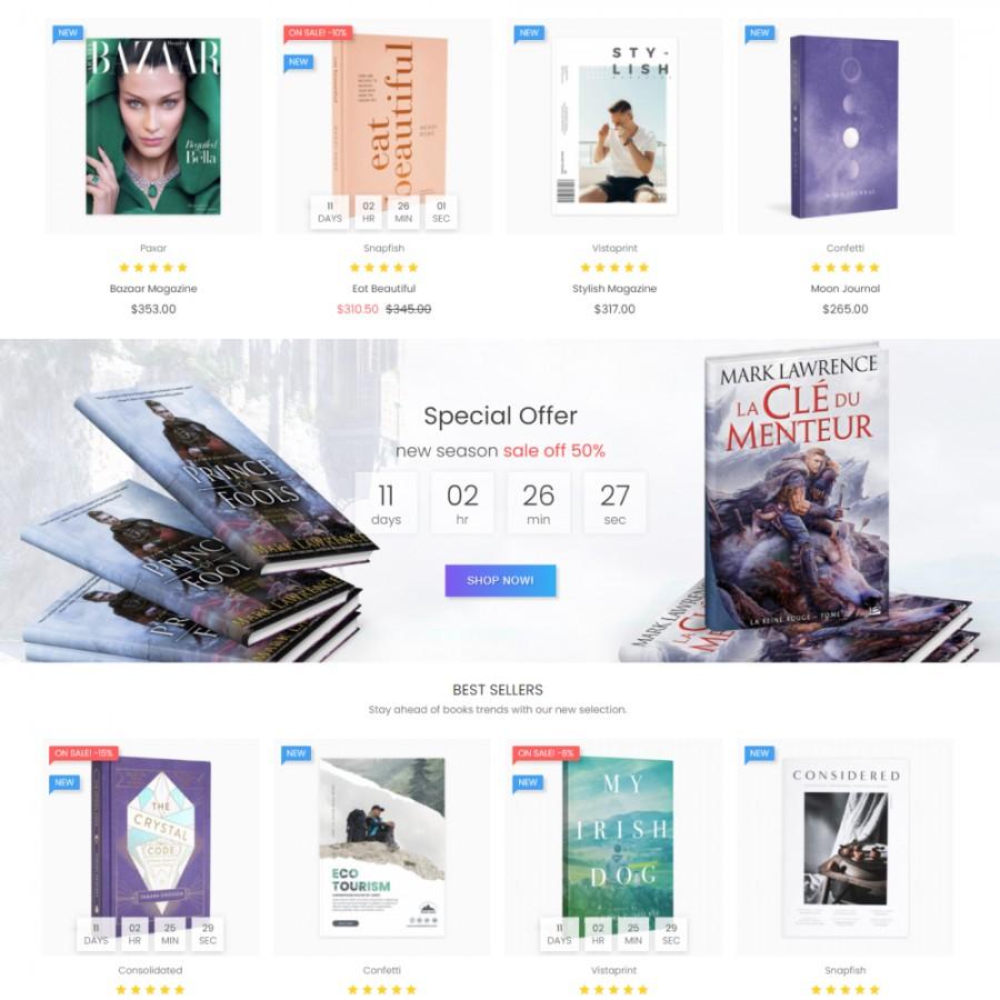 Publishing club - Decor, Culture, Print, Music Prestashop Theme