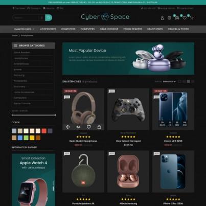 Cyberspace Electronics & Computers - Phones, Watches Prestashop Theme