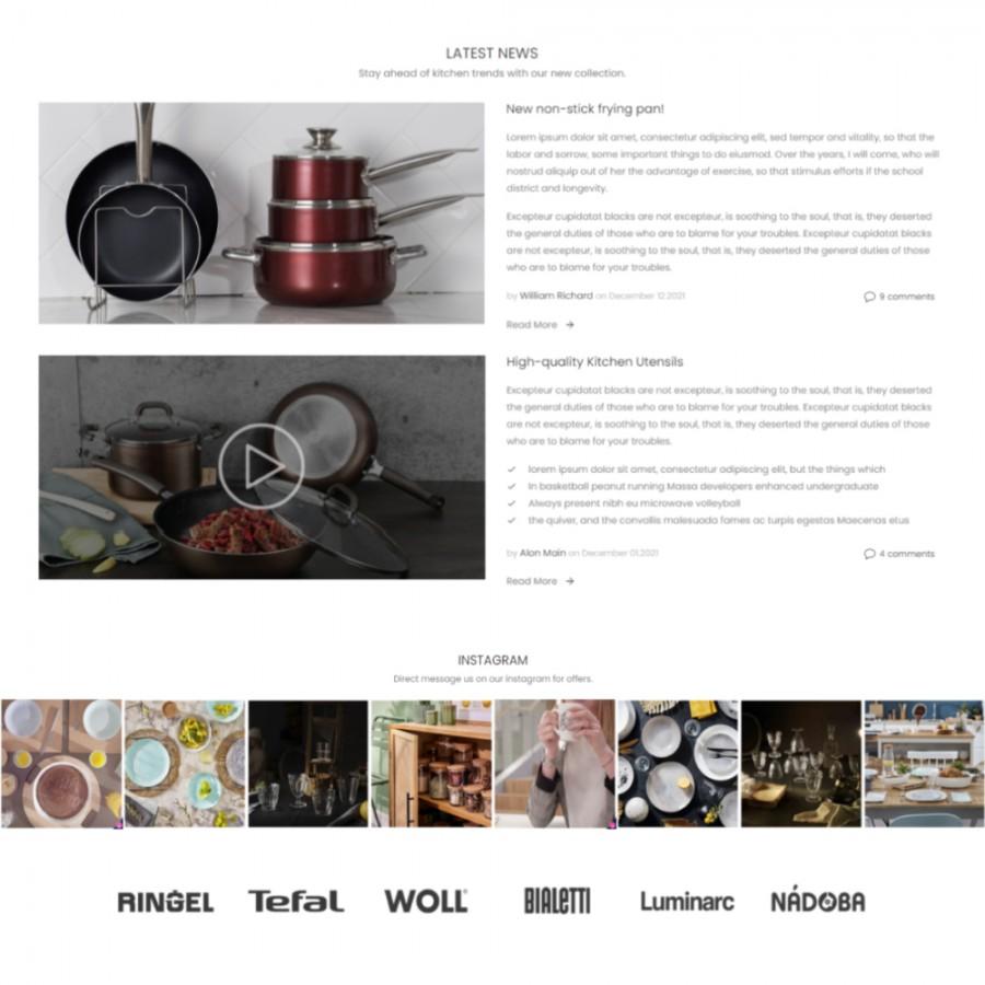 Family - Site Professional Tableware, Kitchen Prestashop Template