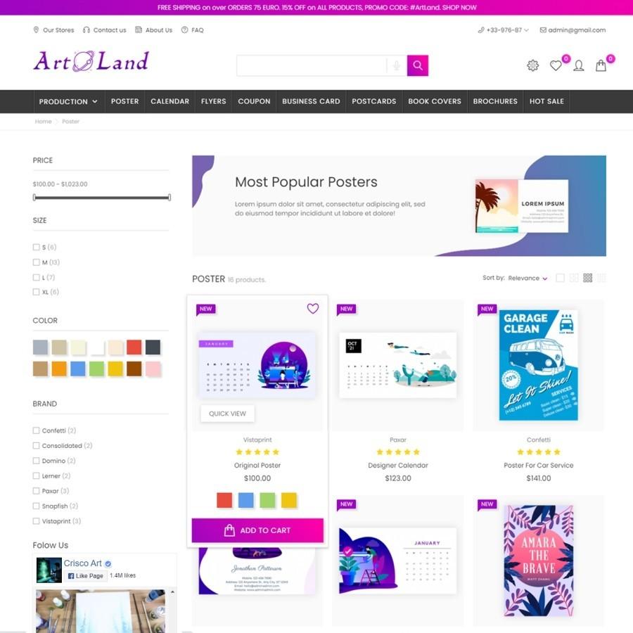 Art Land – Decor & Book Prestashop Theme