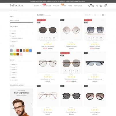 Fashion Optics - Glasses & Shoes, Jewelry, Watch Fashion Store Prestashop Theme