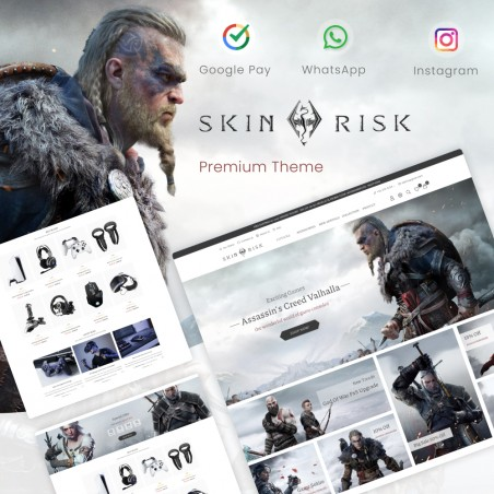 Skin Risk – Electronics & Game, Phones & Watches, Sport Prestashop Theme