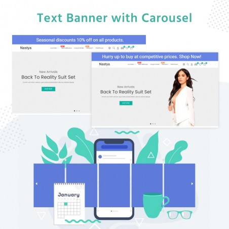 Text Banner with Carousel Free Prestashop Module