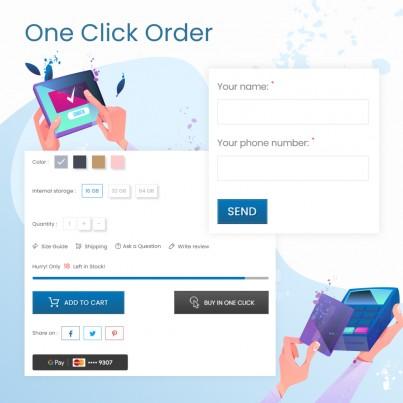 One Click Order (Quick Buy) Free Prestashop Module