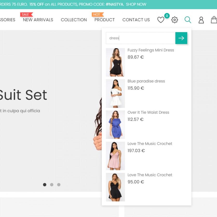 Live Search Product Ajax Free Prestashop Module
