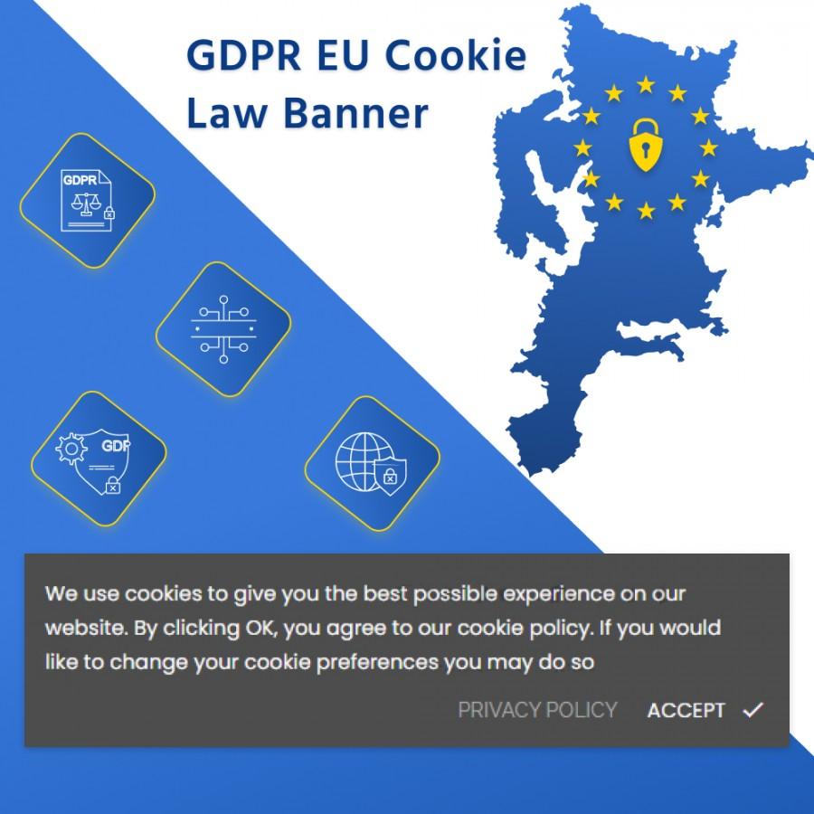 GDPR EU Cookie Law Compliance Banner Prestashop Module