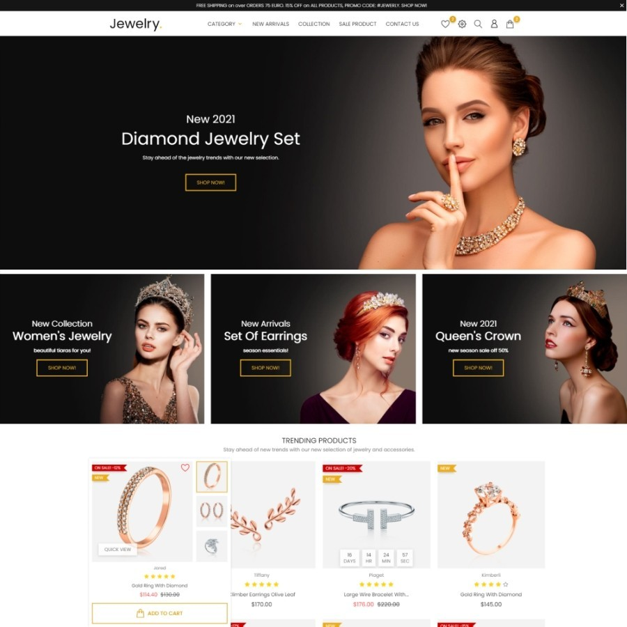 Black Sapphire - Jewelry & Fashion Accessories Prestashop Theme