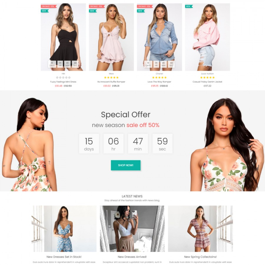 Promotion Discount Countdown Banner & Slider Prestashop Module