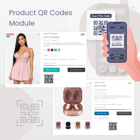 Product QR Codes Prestashop Module