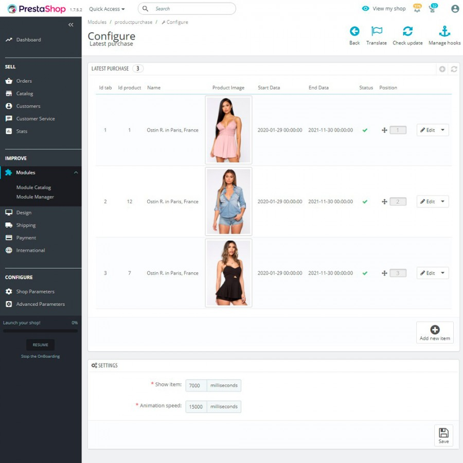 Live Sales Notification - Recent Sales Popups Prestashop Module
