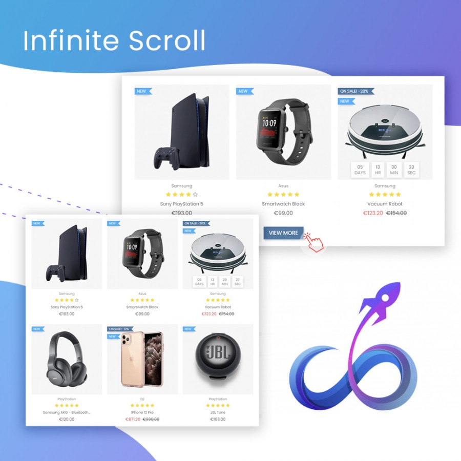Infinite Scroll & Load More Product Prestashop Module